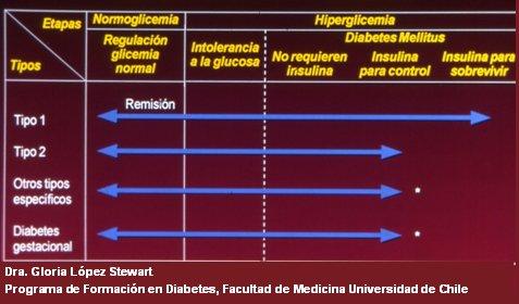 Diabetes mellitus: clasificación, fisiopatología y